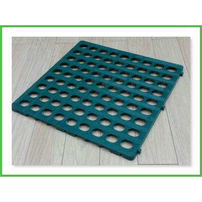 Plastikinis kilimėlis 600x600x30 mm, žalias