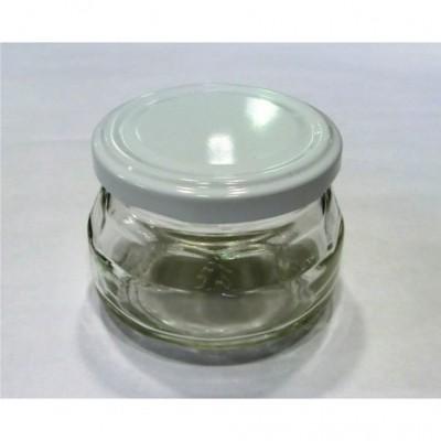 Stiklinis indelis 130 ml Ø66 su dangteliu