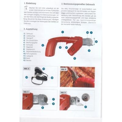 Akumuliatorinis kaulų pjūklas