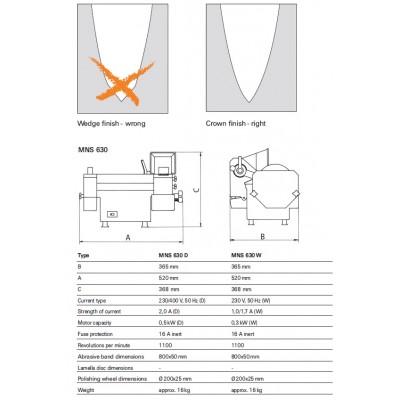 Galandimo mašina - MNS 630 D