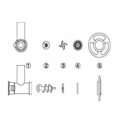 Mėsmalė FTS138 Mod.TS32 400V (N/P)
