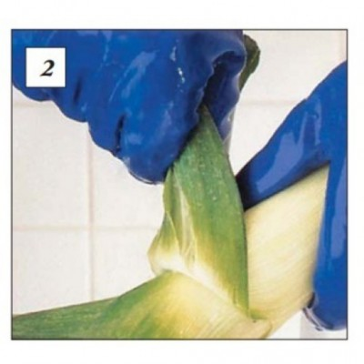 Pirštinės lateksinės, mėlynos, 8 dydis (1 pora)