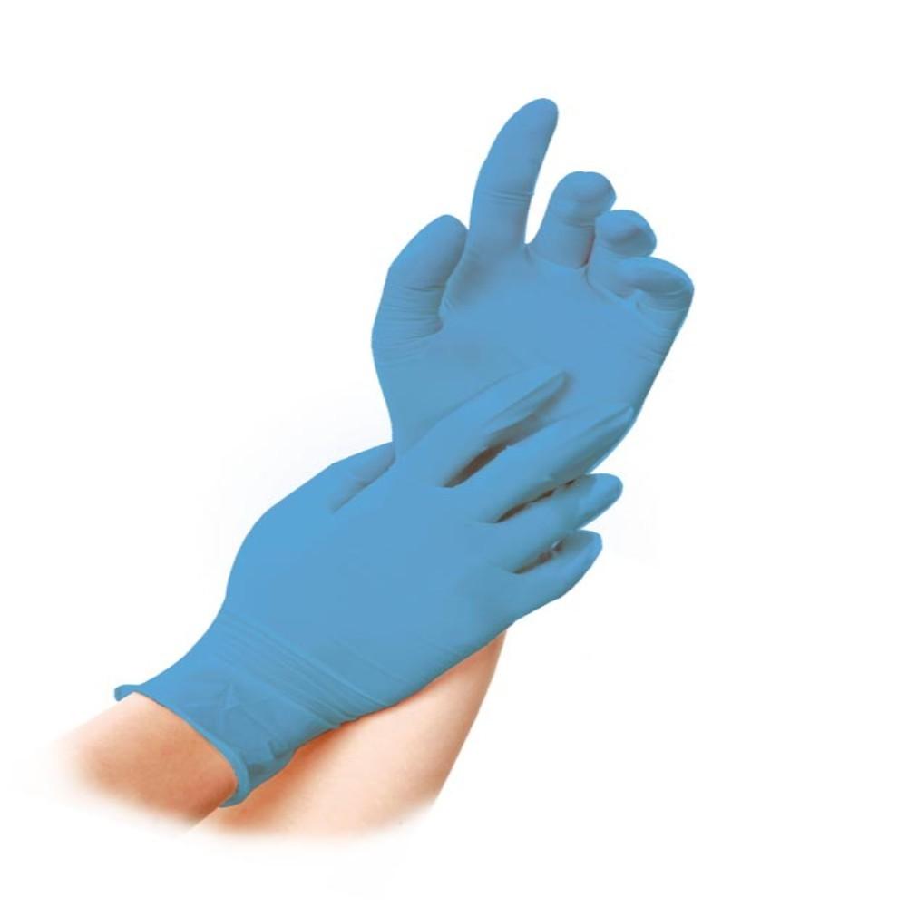 Pirštinės nitrilinės L dydis, mėlynos, 100 vnt