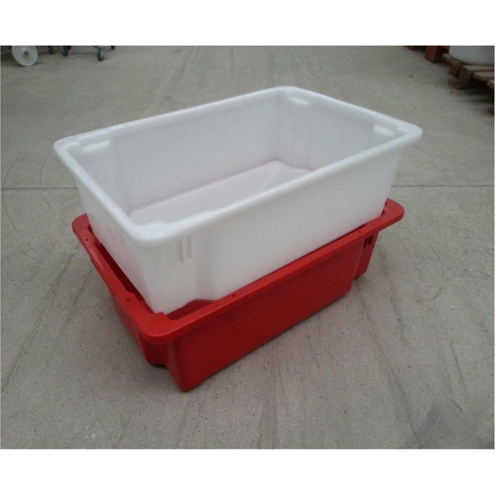 Dėžė 30 l 600x400x180, balta