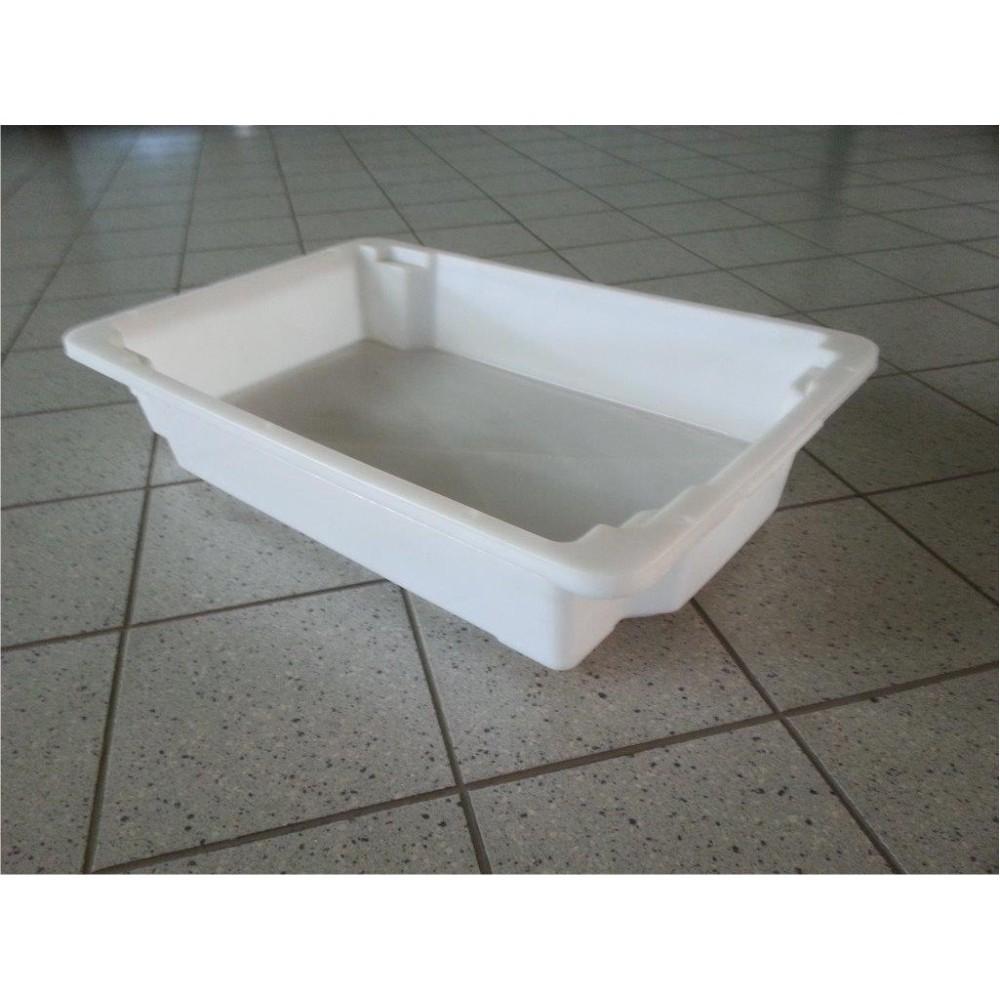 Dėžė mėsai 18 l 600x400x120 mm, balta