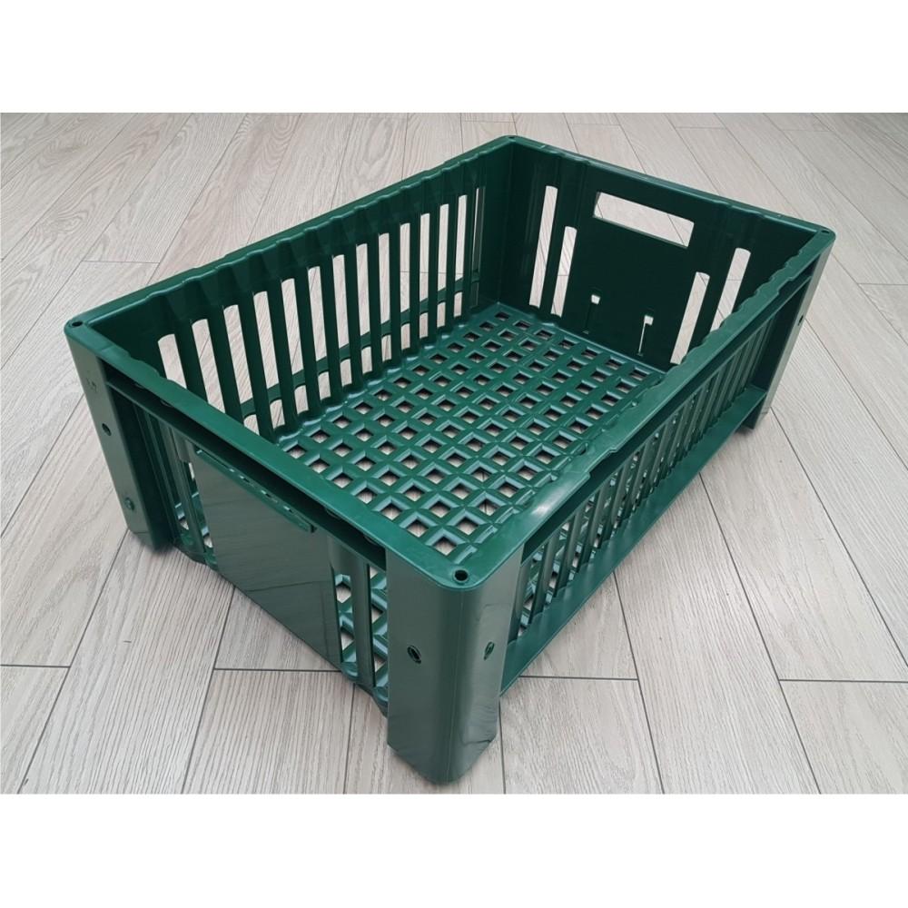 Dėžė  perforuota 600x400x230mm, žalia