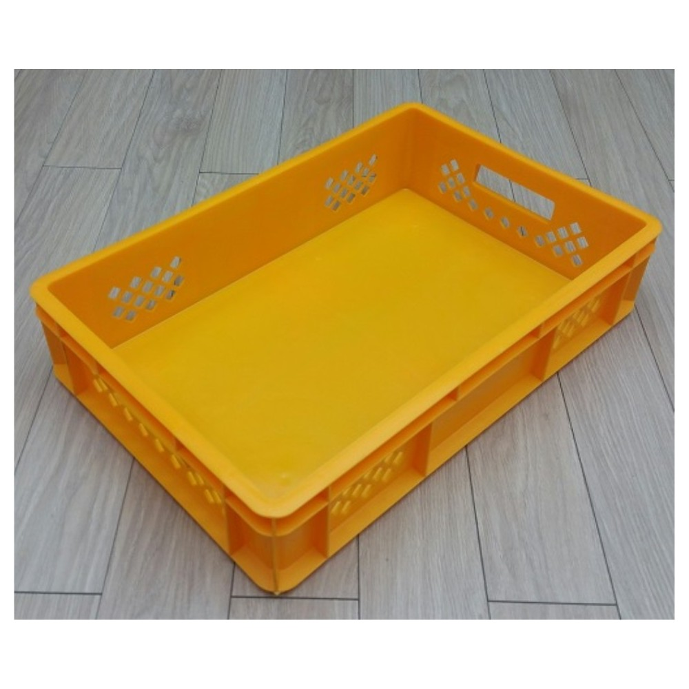 Dėžė 28 l, 600x400x130 mm PS, geltona